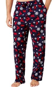 Mens Lounge Pajama Pants Club Room New Christmas L